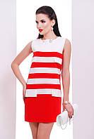 """Красивое платье с клапанами """"Ярина"""" red"""