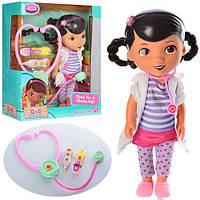 Кукла Доктор Плюшева ZT9942/Doc MC Stuffins с медицинским набором: 29см