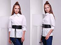 Стильная блузка с поясом «Lily»