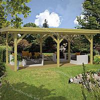 Садовый павильон из дерева 11