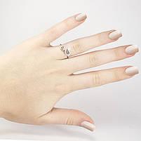 Серебряное кольцо Листочки с фианитами Арт. RN009SV (16), фото 4
