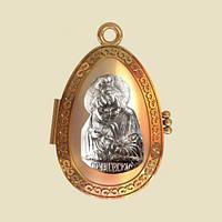 Золотая ладанка Почаевская икона Божией Матери
