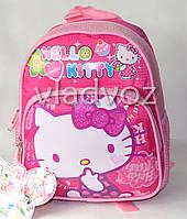 Детский рюкзак hello kitty малиновый рисунок сладости