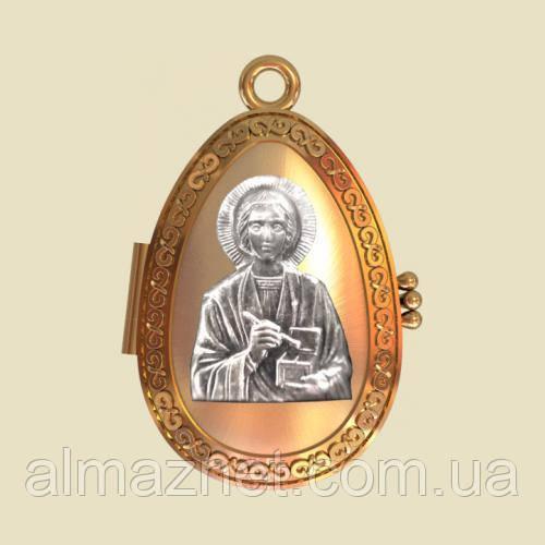 Золотая ладанка Святой великомученик и целитель Пантелеймон