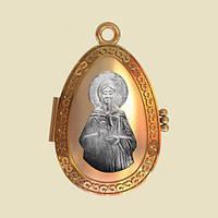 Золотая ладанка Святая блаженная Матрона Московская