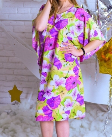 Красивое домашнее платье-туника