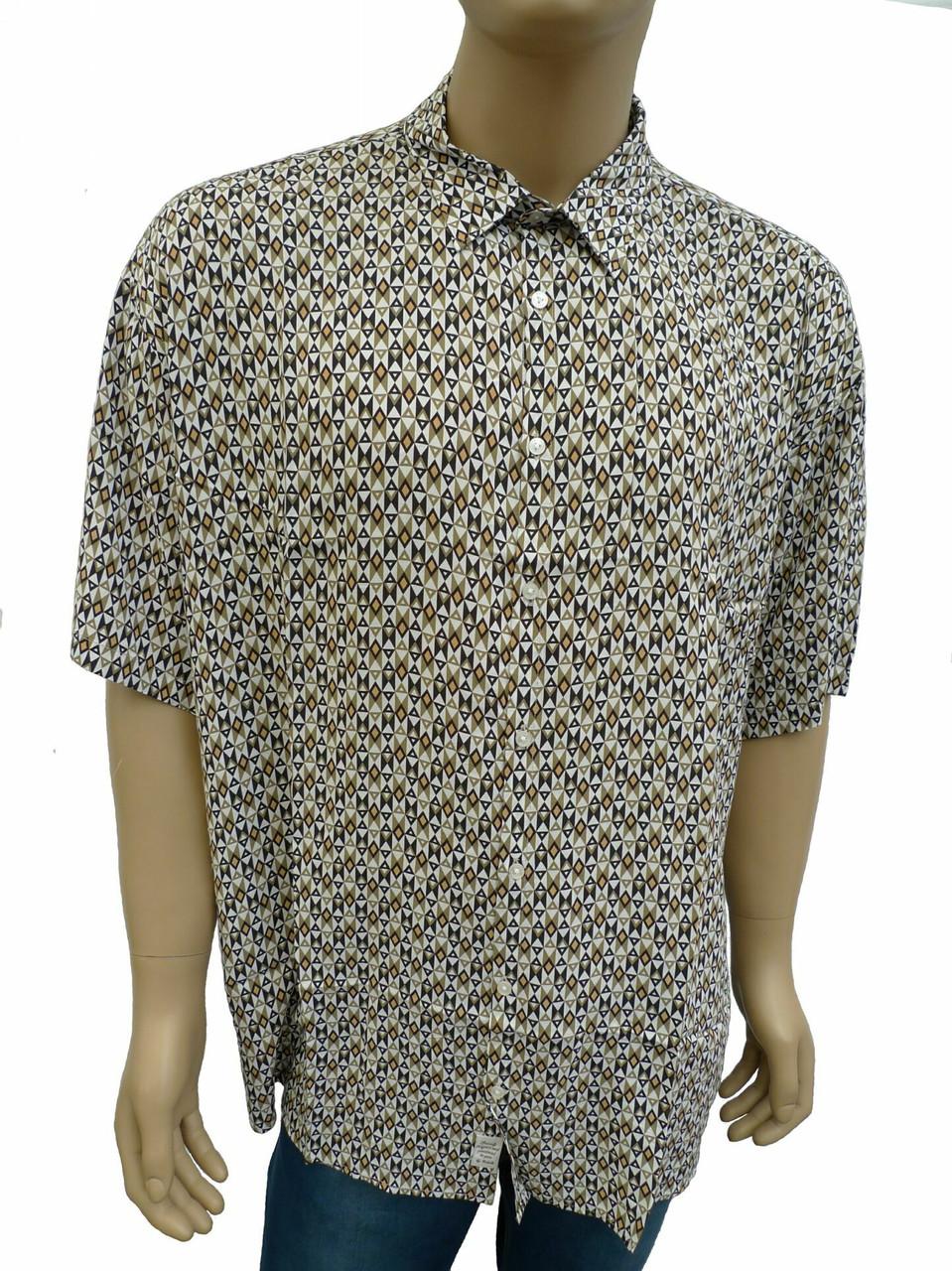 Стильная мужская рубашка большой размер