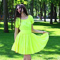 """Летнее яркое платье с пышной юбкой и открытыми плечами """"Белла"""""""