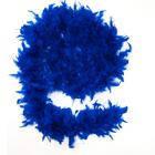 Боа из перьев 60г синее