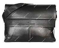 Мужская вместительная сумка черного цвета (54019н)