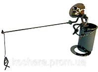 Техно-арт подставка для ручек Рыбак, металл 20х26