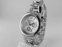 Часы Michael Kors плетеный браслет в платиновом цвете