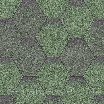 Акваизол Мозаика Зелёная Микс Битумная черепица