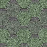 Битумная черепица Акваизол коллекция «Мозаика» Зелёная Микс
