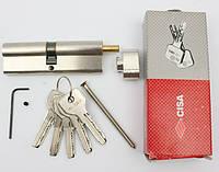 Cisa Astral 100мм 50х50 ключ/тумблер никель (Италия)