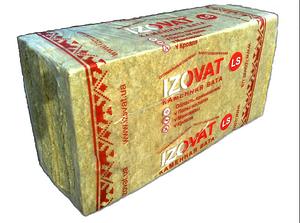 Izovat LS Утеплитель базальтовая вата (минвата) Изоват 100 мм для скатной кровли и полов по лагам