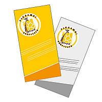 Открытка (приглашение)  цветная двухсторонняя обычная  99*210мм 350 г/м.кв.