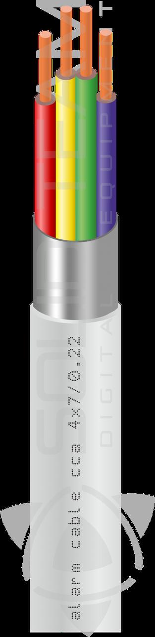 Сигнальный кабель CCA  2x7/0.22 экранированный бухта 100м