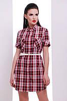 """Платье -рубашка с коротким рукавом """"Лайт-2"""" Bordo"""