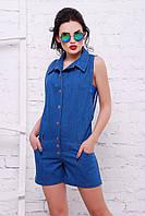 Женский джинсовый комбинезон с накаткой «Стифани», фото 1