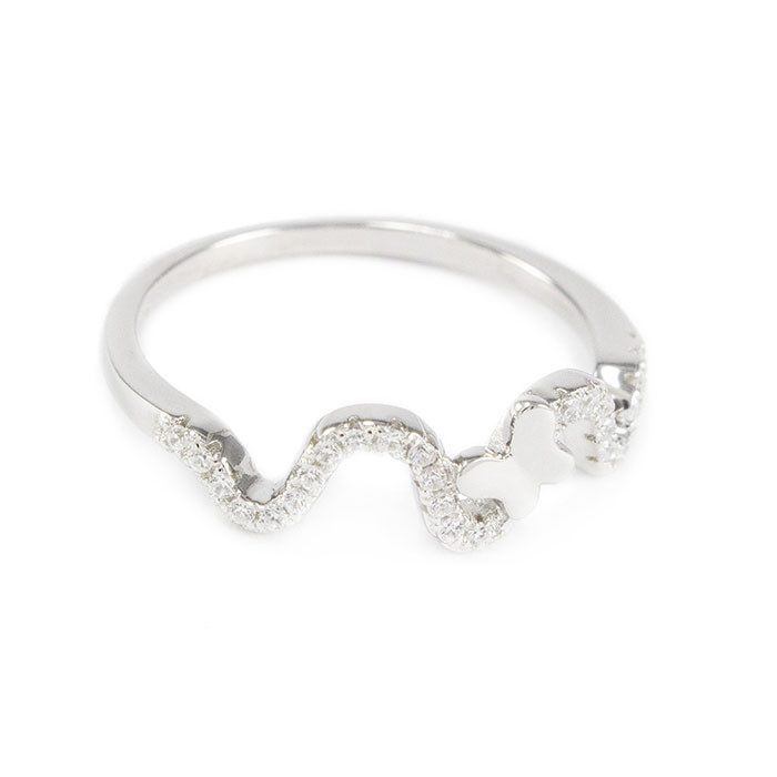 Серебряное кольцо Бабочка с фианитами Арт. RN010SV (16)