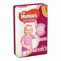 Подгузники-трусики Huggies Размер 5 для девочек 12-17 кг, 44 шт