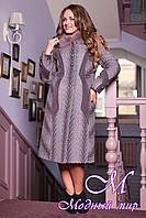 Женское качественное зимнее пальто больших размеров (р. 48-62) арт. 609 Тон 117