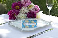 Рассадочная картонка для свадебного банкета