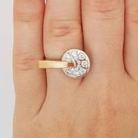 """Серебряное кольцо с золотом """"415"""", фото 1"""