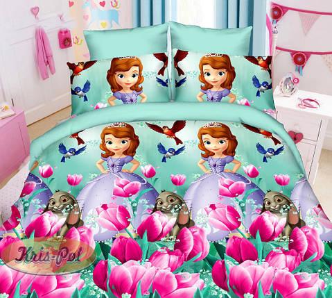 Детское постельное бельё Принцесса София 150*220 хлопок (6850) TM KRISPOL Украина, фото 2