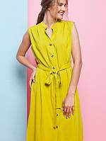 Женское летнее платье-халат с поясом Martina (разные цвета)