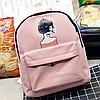 Стильный рюкзак с рисунком девушки, фото 2