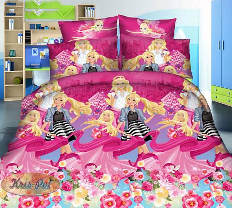 Детское постельное бельё Барби 150*220 хлопок (6873) TM KRISPOL Украина, фото 2