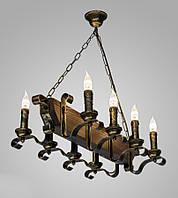 Люстра деревянная свечи AR-004028 на цепях