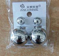 Сережки пусеты из серебристого металла высокого качества по низкой оптовой цене из Китая. 278