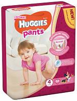 Подгузники-трусики Huggies Размер 4 для девочек 9-14 кг, 52 шт