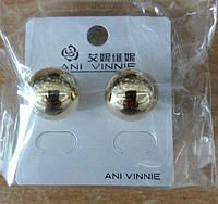 Серьги шарики под золото Ani Vinnie, ювелирная бижутерия оптом 272