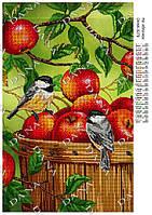 Схема для вышивки бисером На яблочках