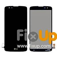 Дисплей LG K8 K350E, K350N, Phoenix 2 с тачскрином в сборе, цвет черный, копия высокого качества