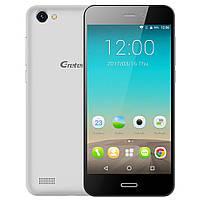 """Смартфон Gretel A7 silver серебро (2SIM) 4,7"""" 1/16 GB 2/8 Мп 3G оригинал Гарантия!"""