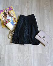 Черная кружевная юбка Forever 21, фото 3
