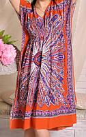 Яркое домашнее платье из штапеля