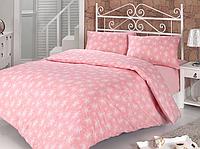 Полуторное постельное белье Naz розовое  ранфорс, полуторное
