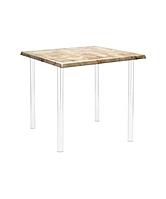 Стол обеденный 80*80см (столешница ISOTOP) , фото 1
