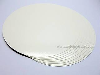 """Картонная подложка для торта """"Белая"""" 32 см ( 50 шт)"""