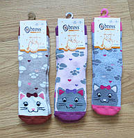 Махровые детские носки с тормозками от турецкого производителя Bross (размеры 25-27, 28-30)