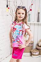 Костюм шорты футболка для девочки микки розовый