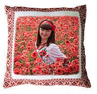 "Печать на подушке ""Українська традиція, орнамент"" квадрат 35х35"