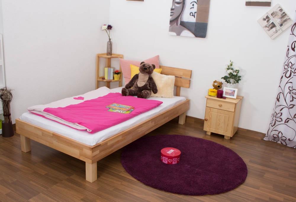Ліжко односпальне B 106 90х200 Бук (Mobler TM)