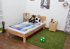Ліжко односпальне B 106 90х200 Бук (Mobler TM), фото 2